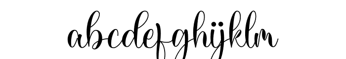 Kamiley Font LOWERCASE