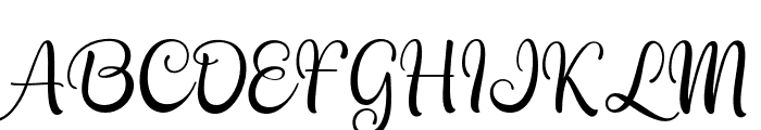 Kayleight Font UPPERCASE
