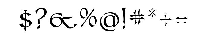 Kells Book Font OTHER CHARS