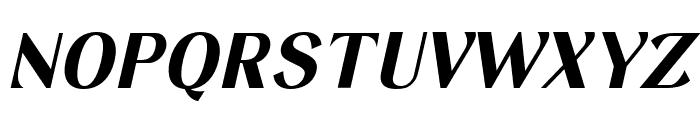 Keystone Bold Italic Font UPPERCASE