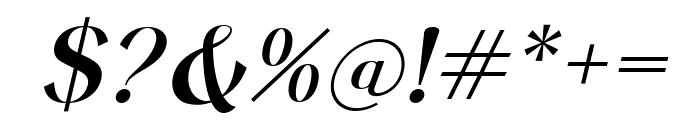 Keystone Italic Font OTHER CHARS