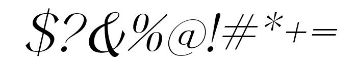 Keystone Light Italic Font OTHER CHARS