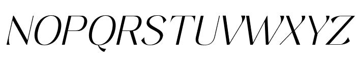 Keystone Light Italic Font UPPERCASE