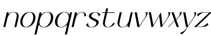 Keystone Light Italic Font LOWERCASE