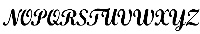 KhamdenScript Font UPPERCASE
