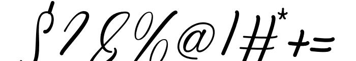 Kiara Akira Font OTHER CHARS