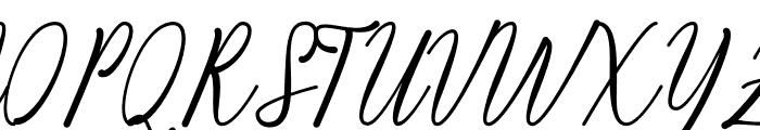 Kiara Akira Font UPPERCASE