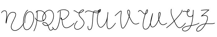 Kiarina Font UPPERCASE