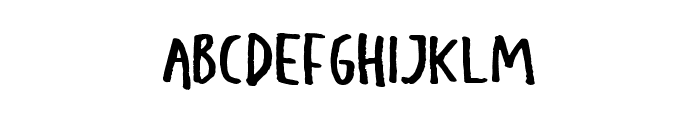 Kids Rebel Regular Font UPPERCASE
