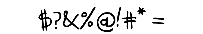 KidwritingBlack Font OTHER CHARS