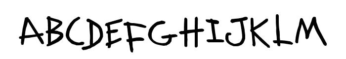 KidwritingBlack Font UPPERCASE