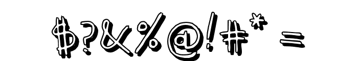 KidwritingShadow Font OTHER CHARS