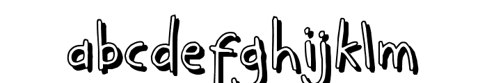 KidwritingShadow Font LOWERCASE