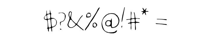 KidwritingWhite Font OTHER CHARS