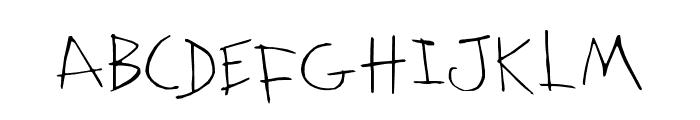 KidwritingWhite Font UPPERCASE