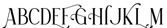 Korenah Font UPPERCASE