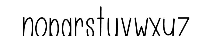 LAZYJOHHANNA Font LOWERCASE