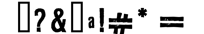 LLRubberGrotesque Font OTHER CHARS