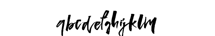 LadyinRed-Regular Font LOWERCASE