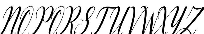 Lattonya Font UPPERCASE