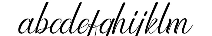 Lattonya Font LOWERCASE