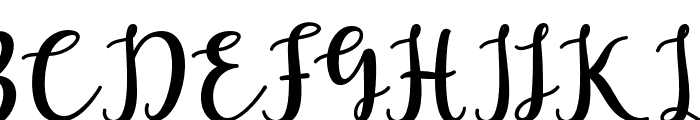 LaughelScript Font UPPERCASE