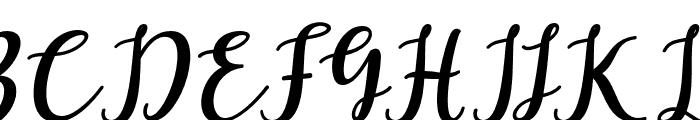 LaughelScriptItalic Font UPPERCASE