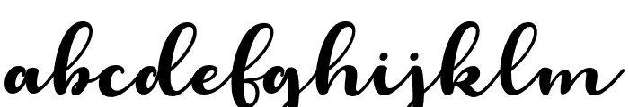 LaughelScriptItalic Font LOWERCASE