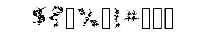Leaves Font OTHER CHARS