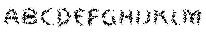 Leaves Font UPPERCASE