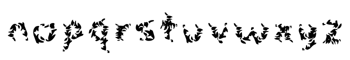 Leaves Font LOWERCASE