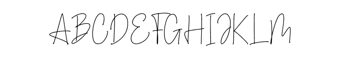 Legally Style Font UPPERCASE