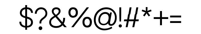 Leonare Light Font OTHER CHARS
