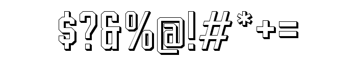 Leonid Extruded Font OTHER CHARS