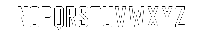 Leonid Outlined Font LOWERCASE