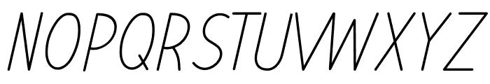 Letranilo Italic Font UPPERCASE