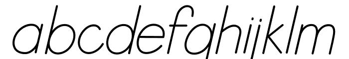 Letranilo Italic Font LOWERCASE