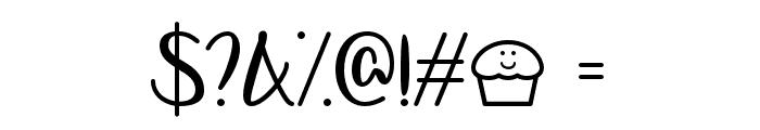 LetsBakeMuffins Font OTHER CHARS