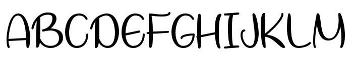 LetsBakeMuffins Font UPPERCASE