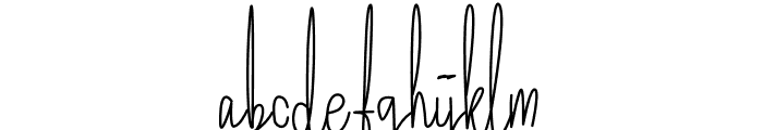 Lettered Font LOWERCASE