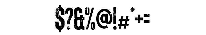 Letterpress TM Font OTHER CHARS