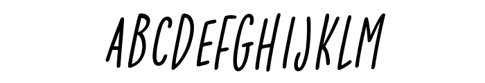 Lightness Italic Font UPPERCASE