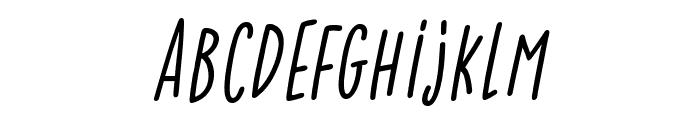 Lightness Italic Font LOWERCASE