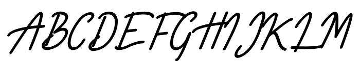 Limestone Ridge Script Font UPPERCASE
