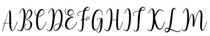 LiteshaScript Font UPPERCASE