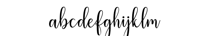 LiteshaScript Font LOWERCASE