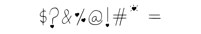 Little Hearts Regular Font OTHER CHARS
