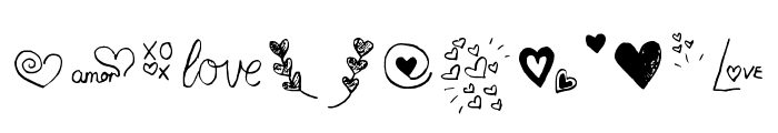 Little Hearts Regular Font LOWERCASE