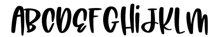 Little Kimberly Font Regular Font UPPERCASE