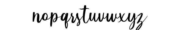 Little Poppy Script I Font LOWERCASE